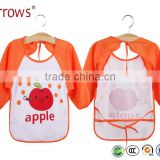 Baby Waterproof Long Sleeve Baby Feeding Apron Bibs Kids Painting Eating Overall Coat Dustcoat Baby Girl