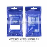 Youde UD japanese organic cotton for atomizer Japanese Muji organic cotton for e cigarette imported