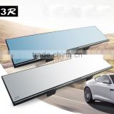 Wide angle view car van side blind spot flat car interior mirror