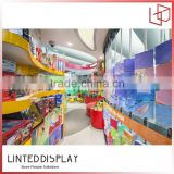 Supermarket mall children favorite toy glass display case