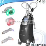 Newest cryo therapy + vacuum multlar rf +blue\ red light +laser hand piece for body slimming machine