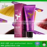 Natural Coloured Hair Dye Colorful Semi Permanent Hair Color Cream