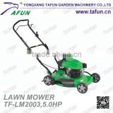 5hp hand push lawn mower with multifuction use