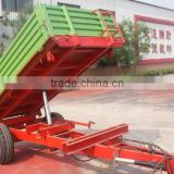 hot sale Euro style tractor use hydraulic 2 Ton, 3 Ton farm tipping trailer, rear and side tipping with CE certification