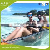 china supplier new style no Inflatable PC crystal transparent canoe kayak