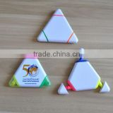 good quality triangle shape highlighter pen for promotion