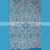 African beaded lace dress making fabric for beautiful turkish brides