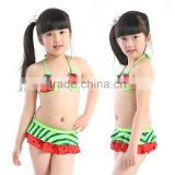 Wholesale Popular Children Swimwear Age Group and Baby Girls Gender Bandeau Bikini