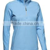 dri fit breathable performance coolmax fabric high quality custom embroideried Ladies Golf Jumper 1/4 zip pullover shirts