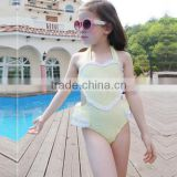 KS20371G 2016 Summer three pieces suite Bikini kids swimsuit