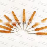 High Quality Crochet Hook with Bamboo Handle Knitting Needle Crochet Hook For Hand Knitting