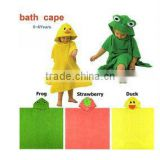2013 Boy Girl Animal Baby Bathrobe/Baby Hooded Kids Bath Terry Children Infant Bathing/Baby Robe