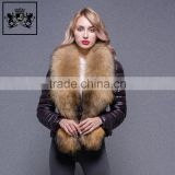 New Foldable European Winter Ultra Light Women Goose Duck Popular Down Jacket With Big Fur Collar