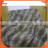 China Manufacturer Rabbit Fur Throw / Rug