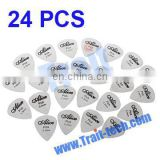 Cheap Wholesale 24pcs 0.3mm Smooth Stainless Steel Guitar Pick Sheet Paypal Accept