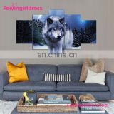 Top Quality Wolf Pattern Oil Art 3D Wall Painting