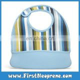 Whole Sales Children Pick Rice Pocket Baby High Quality Neoprene Bibs