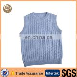 Round neck knitting wholesale cable cashmere baby vest