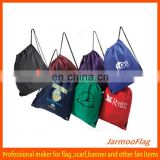 cheap polyester jersey drawstring bag