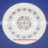 White Marble Inlay Plate