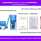 Dry powder mortar putty production unit