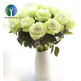 artificial plant black rose flower real touch bouquet