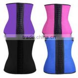 Hot Selling Large Stock rubber 9 Steel Boned Waist Trainer Latex Corsets