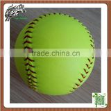 Yellow Color PU fast softballs High Density Cork Core Pro Leather Cover 12inch Softballs