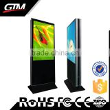 Custom Double screen advertising kiosk 55 inch all in one pc tv floor standing photo frames no synchronization wifi network