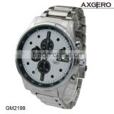3 ATM Waterproof Quartz sport Men Wristwatch quartz alloy case stainless steel black watch