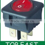 White ON-OFF auto 12v illuminated rocker switch 30*30mm KCD4-204/4PN