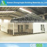 small prefab cabins / sound insulated EPS sandwich panel with steel structure in Brazil supplier