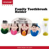 D483 Family Bathroom Set Toothbrush Accessories Set Plastic Toothbrush Holder With Cover And Timer 4 peices