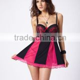 latest design sexy women mature hot fashion transparent embroider cup short babydolls lingerie 5131