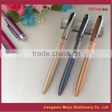 Fancy logo printing custom made crystal filled pens                                                                         Quality Choice