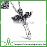 Men stainless steel sword pendant wholesale sale costume pendant jewelry                                                                                                         Supplier's Choice