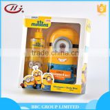 BBC Minons Gift Sets OEM 006 OEM supplier mild kids bath set with shampoo and body mist
