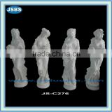 garden decoration white four seasons marble statues