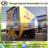 170hp DONGFENG refrigerated cold room van truck for ice cream and bread transportation