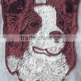Animal Dogs logo custom Iron-on personalized embroidery patch,customized self-adhesive embroidery patch