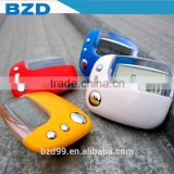 Promotional LOGO Custom Multi-functional Sports Step Distance Calorie Counter Pedometer with Clock