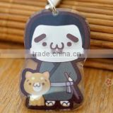 japanese cartoon cute mobile straps / mobile phone finger strap soft 3d pvc cell phone strap with cute people and dog