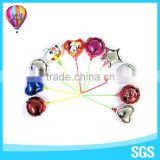 2016party foil balloon wth cup stick with customer design shape for kids'gift or party needs