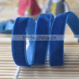 wholesale blue double sided velvet ribbon                                                                         Quality Choice