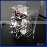 China supplier acrylic makeup organizer clear box cosmetic cases / acrylic jewelry display cases wholesale