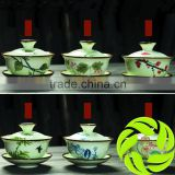 Wholesale premium Chinese ceramic teaset bone china gaiwan pottery gaiwan 120ml tea cup teaware gai wan