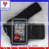 custom elastic neoprene sport hook and loop reflective armband for cellphone free sample