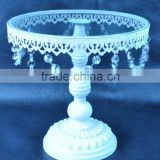Beautiful french white crystal cake stands                                                                         Quality Choice