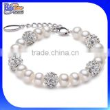 Hot Sale 9-10mm Round Women's Fake Pearl Bracelet Wholesale