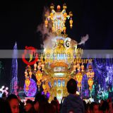 outdoor colorful grand musical fabric metal lantern lights for Christmas and festivals